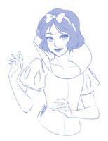 Snow White Sketch by Emily-Fay
