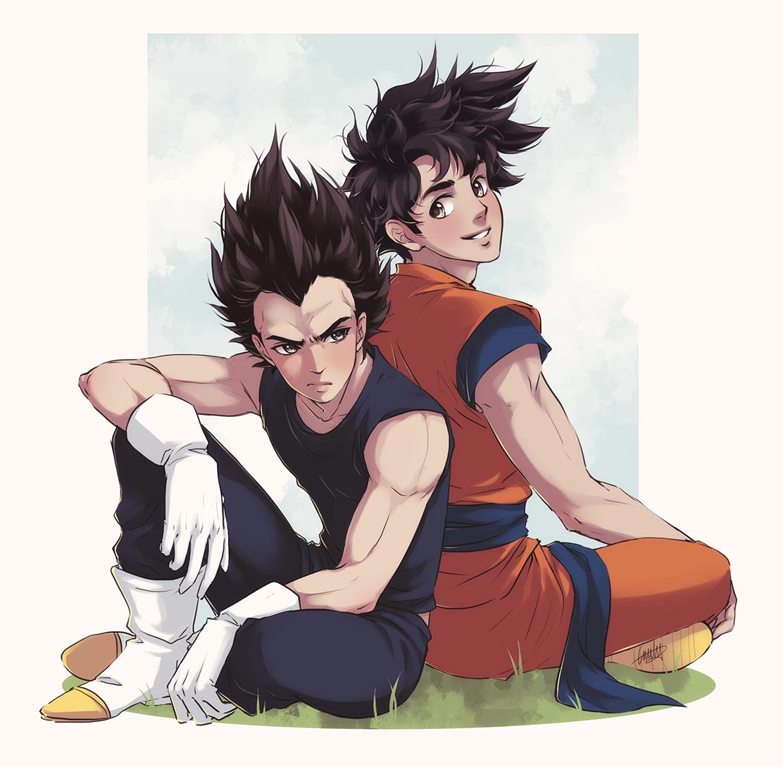 Goku And Vegeta By Emily Fay On Deviantart