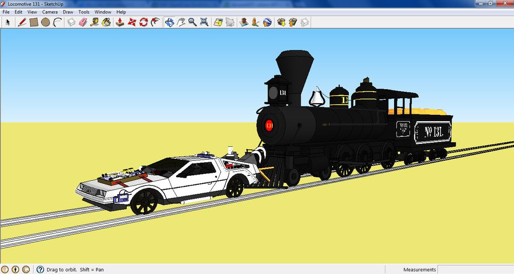 Delorean And Locomotive 131 On Sketchup By Antonio248 On