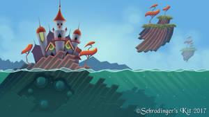 Water Castle Background by SchrodingersKit