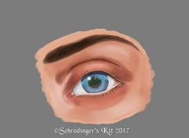Eye Painting Practice by SchrodingersKit