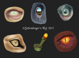 Creature Eye Painting Practice by SchrodingersKit