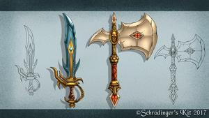 Fantasy Weapon Practice by SchrodingersKit
