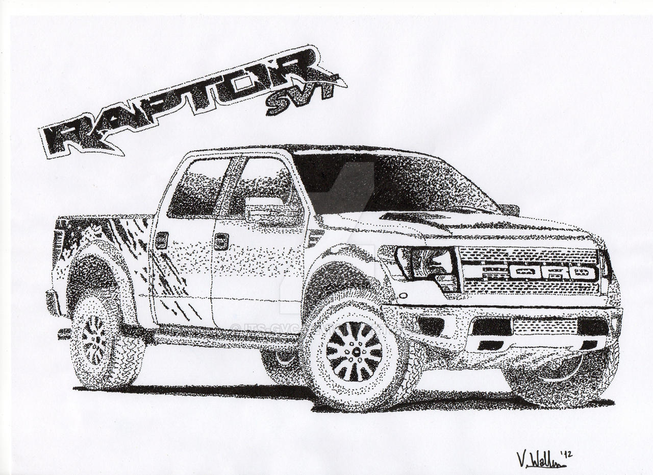 Ford Raptor Truck Drawings Images