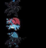 Poke-Fusion: Zekromence by Cheeyev