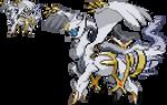 Poke-Fusion: Arceus with Reshiram plate by Cheeyev