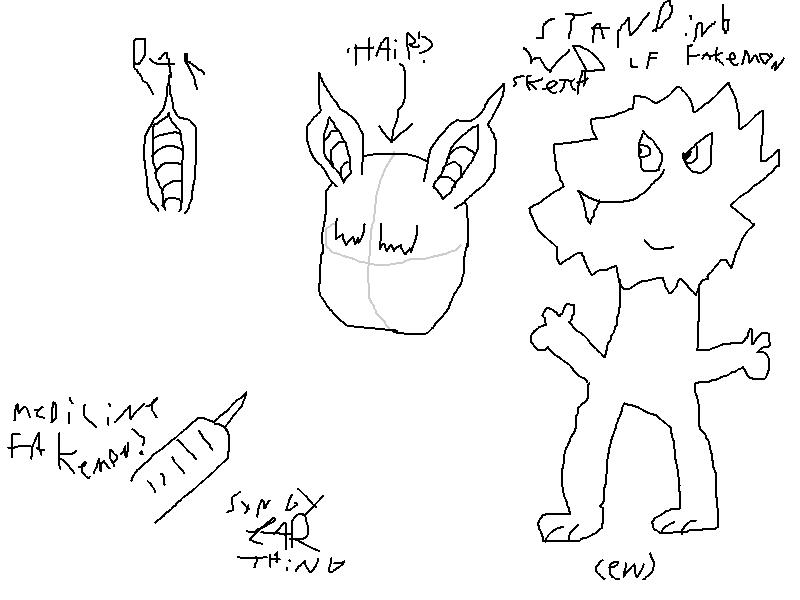 Fakemon Sketches by Cheeyev