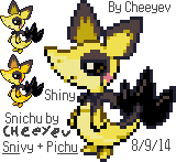 Poke-Fusion: Snichu by Cheeyev