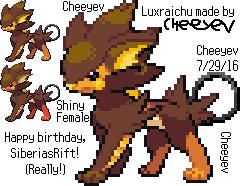 Poke-Fusion: Luxraichu