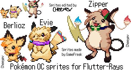 Pokemon OC sprites for Flutter-Rays