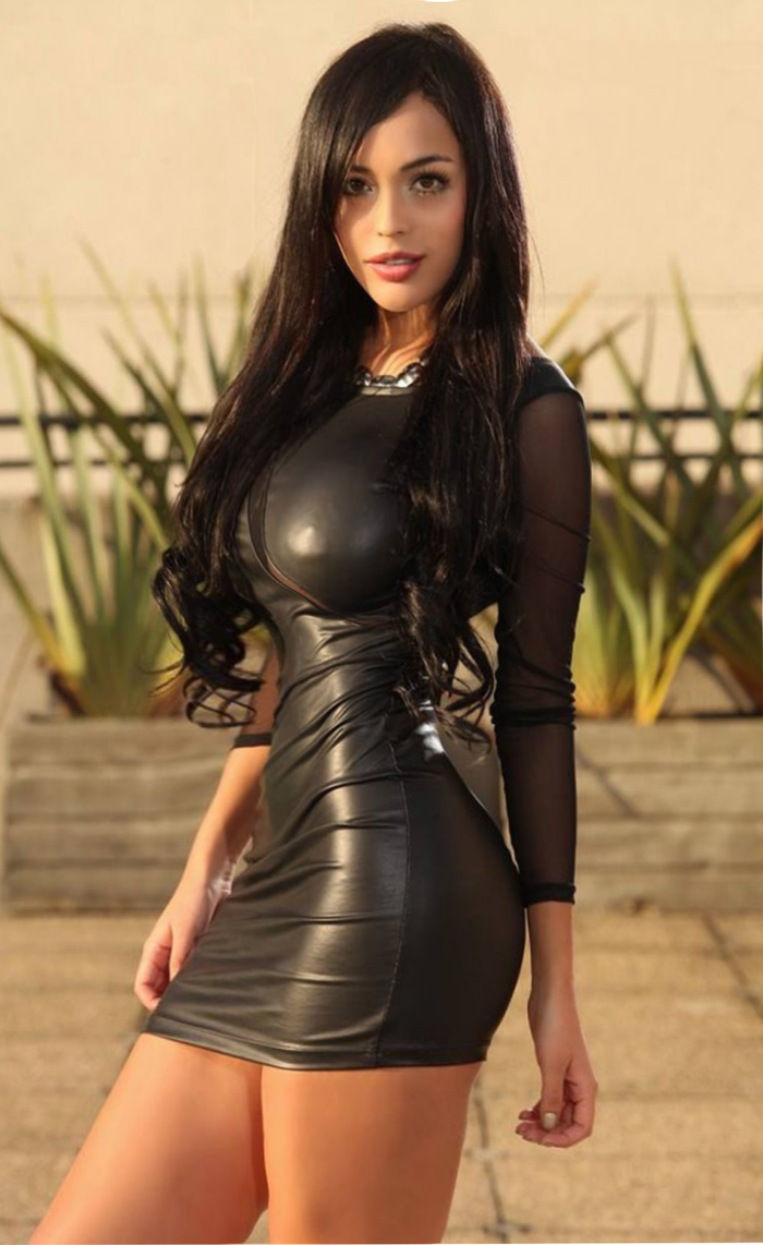 Tight Black Dress Busty 24