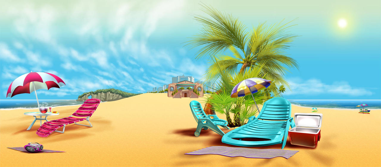 Cartoon Beach Wallpaper: Beach Background By SavarkDicupe On DeviantArt