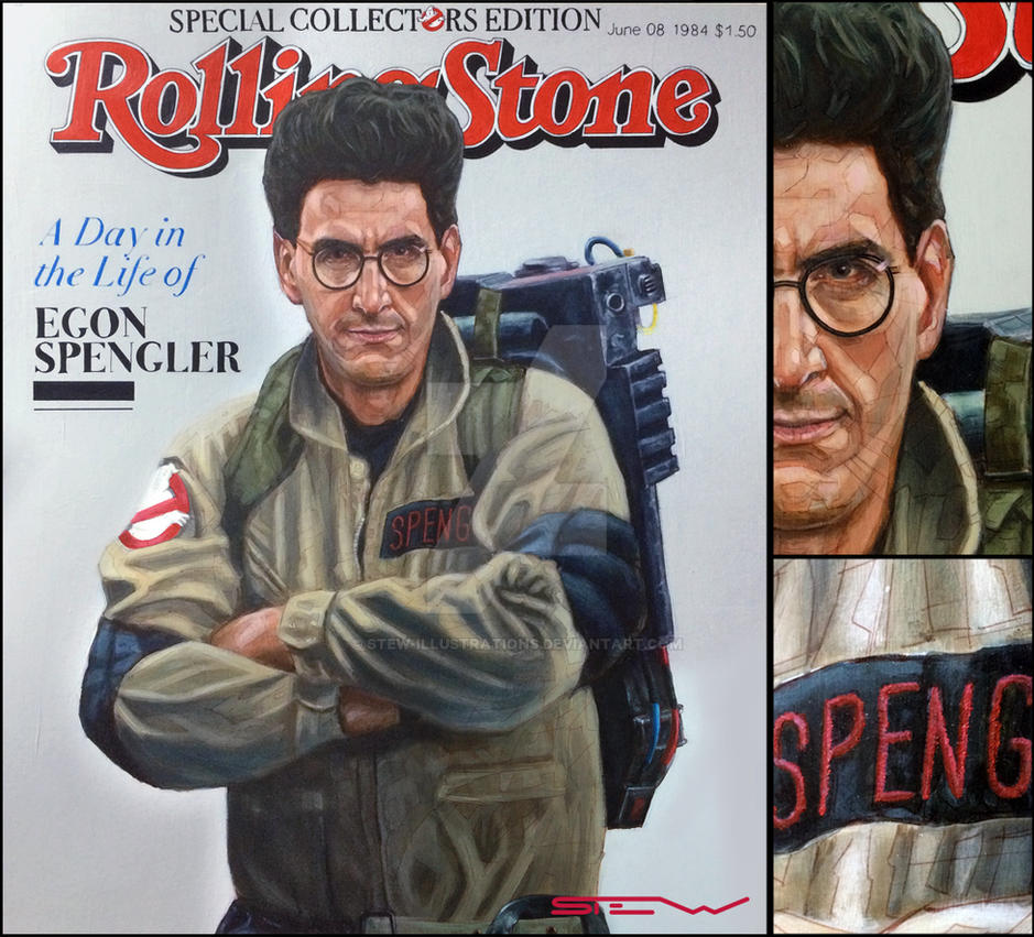 Egon Spengler Ghostbusters Rolling Stone cover by Stew-Illustrations