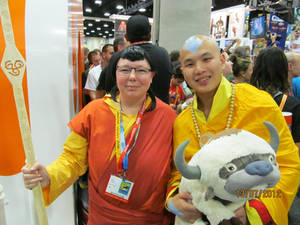 Pema with Avatar Aang....