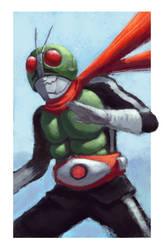 Kamen Rider Ichigo fanart/training by alxcarvalho