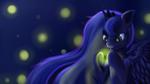 Princess Luna and the Fireflies (with Speedpaint!)