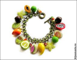 Bracelet 'Tropical Fruit' 1 by allim-lip