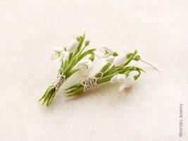 Snowdrops Earrings by allim-lip