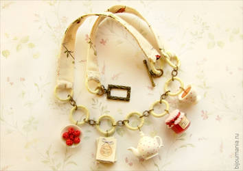 Necklace Tea with jam by allim-lip