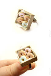Mint Pink Powdered Sugar Donuts by allim-lip