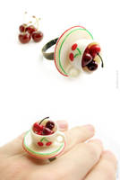 Cherries in a Cup Ring by allim-lip
