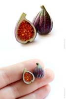 Figs Stud Earrings by allim-lip
