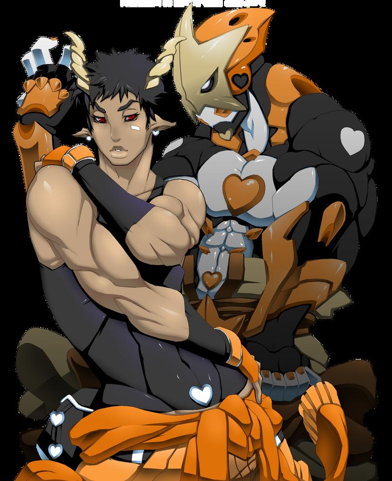 Rekka and Orange Comet by Dragoon-Rekka