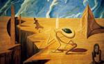 Aliens and Obelisks: mural