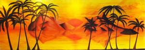Sunset in Paradise (mural)