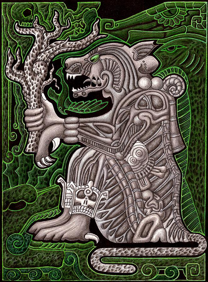 Jaguar God of the Underworld by A-D-McGowan