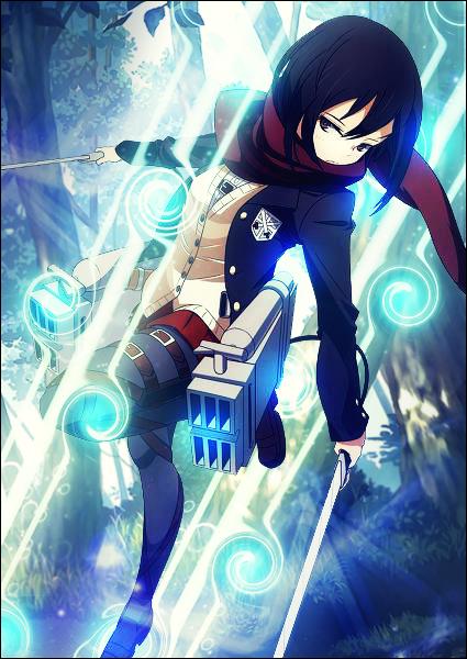 Shingeki No Kyojin Mikasa Ackerman 4 By Rikyue On Deviantart
