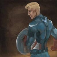 Steve Rogers, Captain America by Elkiz