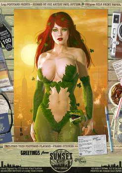Poison Ivy 'Sunset City' Comic Print