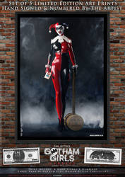 Harley Quinn, Gotham Girls Comic Series, Classic by PaulSuttonArt
