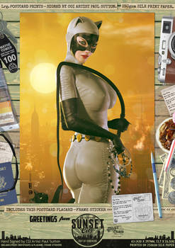 Catwoman DC Animated 'Sunset City' Comic Print