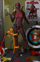 Lady Deadpool 'Teenage Bedroom Heroines' Series by PaulSuttonArt