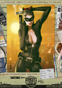 Catwoman (TDKR) 'Sunset City' Comic Print
