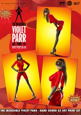 The Incredible Violet Parr... Art Print Set