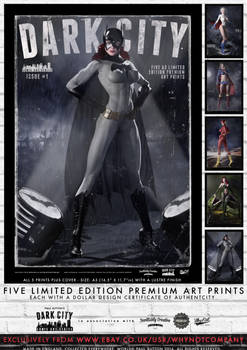 Dark City Issue 1 - Limited Edition 5 Print Set
