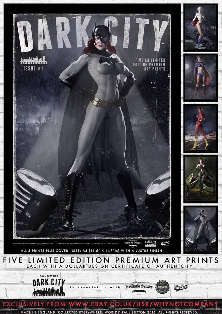 Dark City Issue 1 - Limited Edition 5 Print Set by PaulSuttonArt