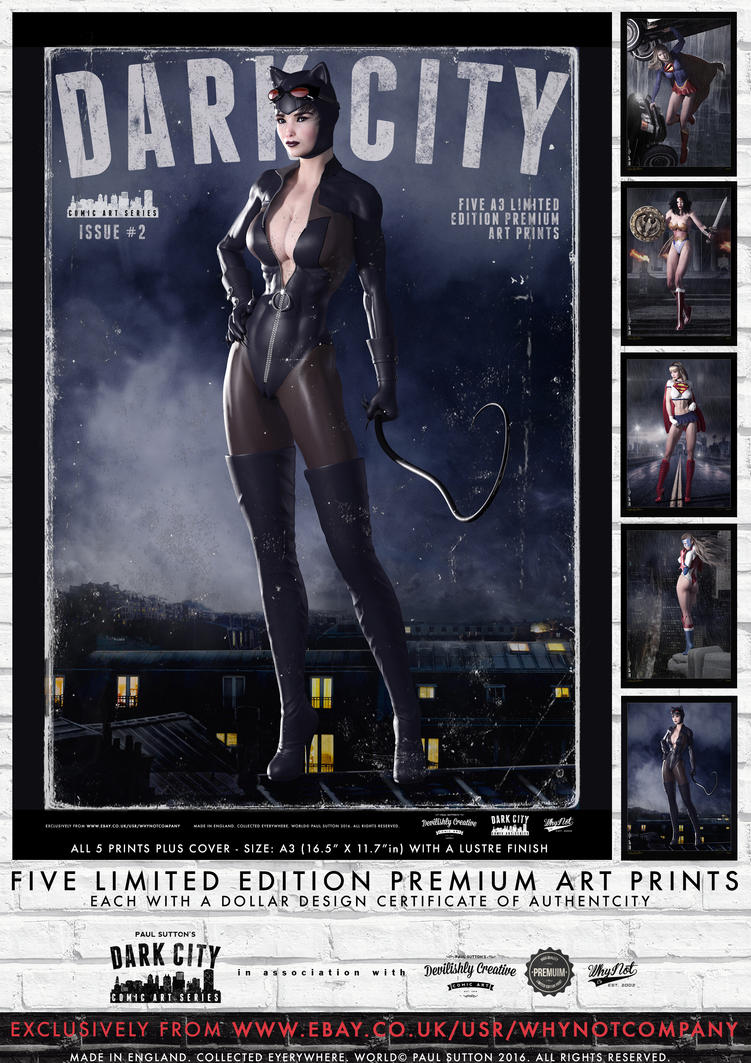Dark City Issue 2 - Limited Edition 5 Print Set by DevilishlyCreative
