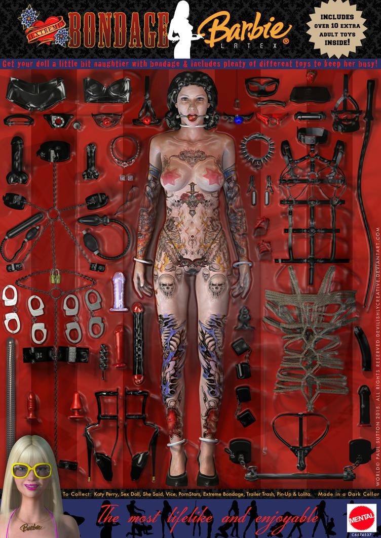 Extreme Bondage Barbie Doll by DevilishlyCreative