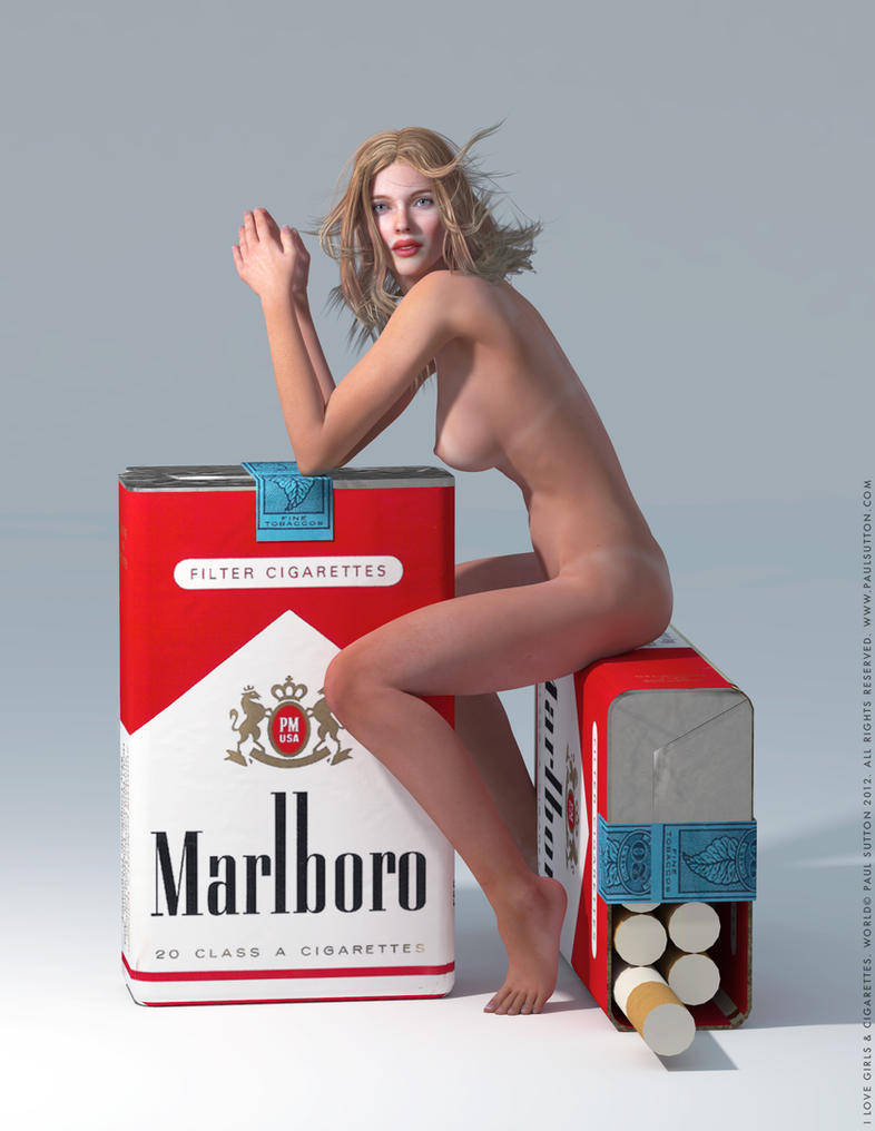 I Love Girls and Cigarettes by BlackSheepArt