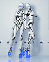 Fembot's Together 'as featured in...' by PaulSuttonArt