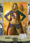 Supergirl Ripped 'n' Torn 'Sunset City' Series by PaulSuttonArt