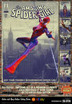 Spider-Girl 'Pulp Friction in the Sky' Art Print by PaulSuttonArt