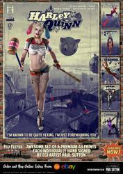 Harley Quinn 'Pulp Friction in the Sky' Art Print by PaulSuttonArt