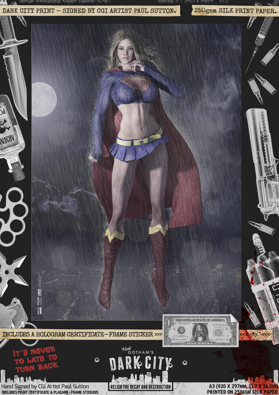 Supergirl II 'Dark City' Var. Signed Comic Print