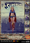 Supergirl 'Pulp Friction in the Sky' Art Print by PaulSuttonArt