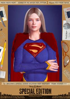 Supergirl Movie, Helen Slater Costume Portrait